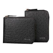 Design Fashion Men Wallets with Zipper High grade PU Leather Ostrich Grain Square Famous Brand Mens