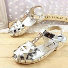 Kids Shoes 2016 Newly Design Sandals For 2-12 Ages Princess Flower Girl Shoes Party Dress Sandals Kids t-x512(China (Mainland))