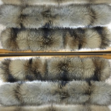 60cm 80cm 2016 Winter 100% Real Natural Raccoon Fur Collar & Womens Scarfs Fashion Coat Sweater Scarves Oversized Neck Cap #1(China (Mainland))