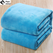 150*200cm Flannel/flano sofa/air/bedding throw solid color travel Blanket 12different colors duvet quilt bed set(China (Mainland))