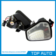 2Pcs LED Side Mirror Puddle Lights No Error for Vw Volkswagen EOS Passat CC Scirocco(China (Mainland))