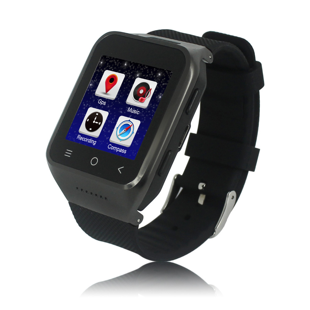 5.0M Prepositive camera latest wrist watch mobile phone 4.4 OS android watch phone 3G smart phone watch(China (Mainland))