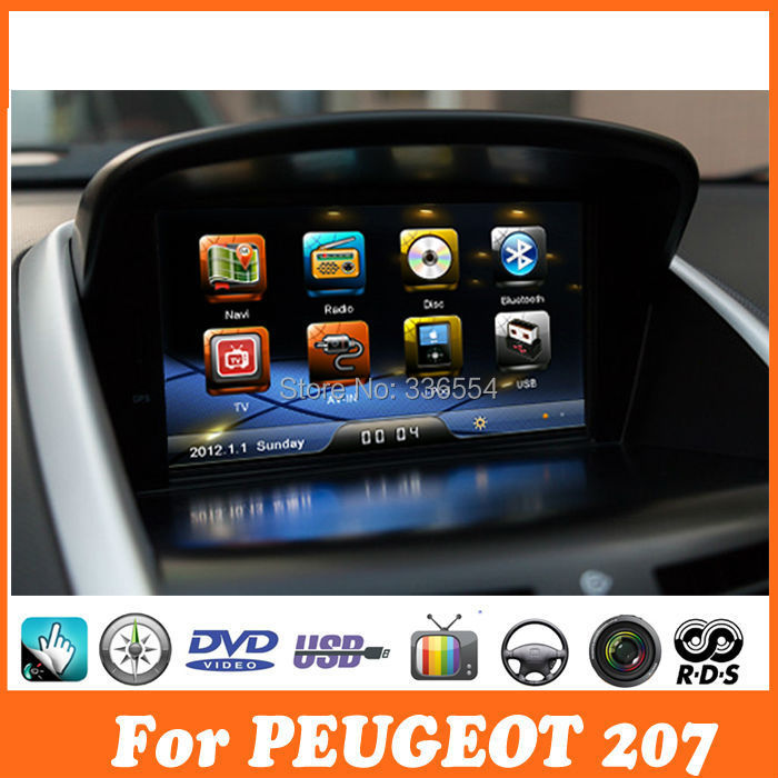 car dvd gps navigation for peugeot 207 radio rds dvd. Black Bedroom Furniture Sets. Home Design Ideas