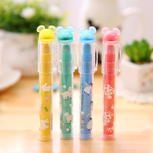 1 Pcs Cute Kawaii Candy Color Lipstick Mini Multi Top Pencil Erasers For Kids Office School Supplies Stationery Children(China (Mainland))
