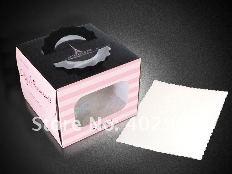 16*16*12cm Party Cake packaging Cupcake boxes wedding Cake case favor cake holder 50pcs/lot(China (Mainland))
