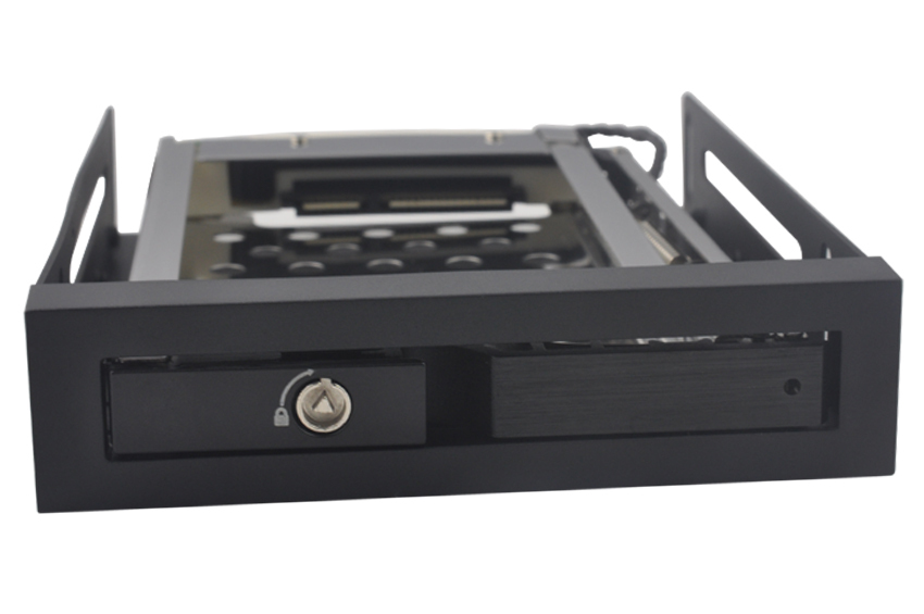 2.5in single bay SATA Aluminum Case hdd mobile rack with black panel(China (Mainland))