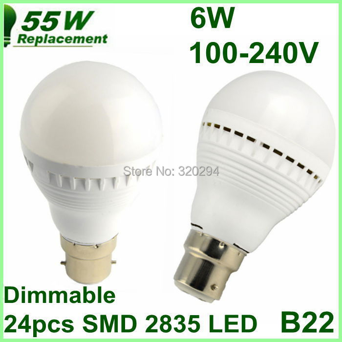 B22 22835 SMD Cool/warm White LED Light Lamp Bulb 100-240V Replacement Need Dimmer Withstand Voltage 1500V - Excellent Etop Shopping store