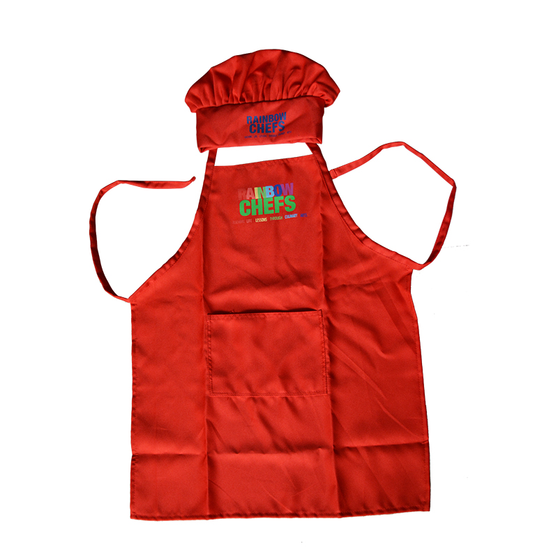 New Children's Chef Hat Cute Kitchen Work Caps Wholesale Kids Cooking Apron Free Solid Pleated Top Hats Free Shipping(China (Mainland))