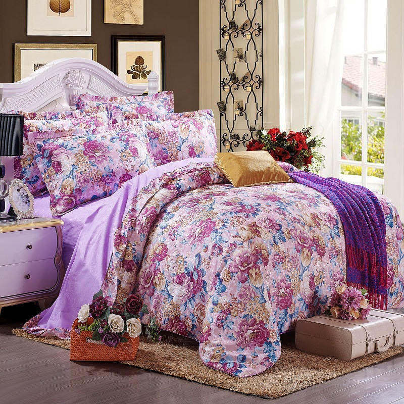 Purple paris bedding promotion shop for promotional purple - Fundas nordicas jacquard ...