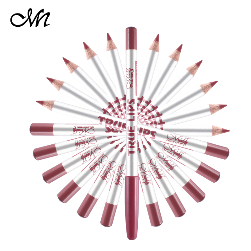 1 15cm 12Colors/Set Waterproof Lip Liner Pencil Women's Professional Long Lasting Lipliner Pencils Lips Makeup Tools - Li Mina Beauty Store store