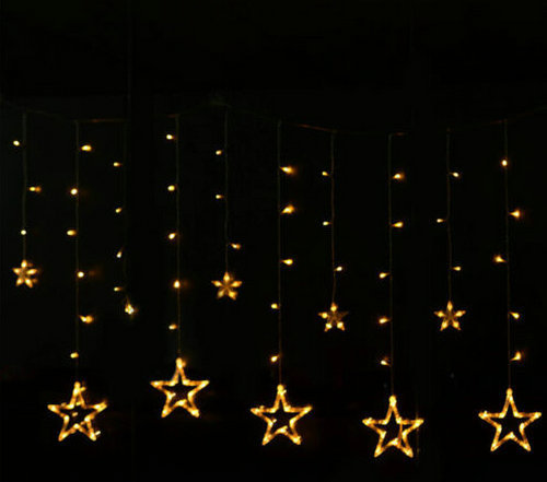 2M 138Led 8 Mode Star LED String Fairy light curtain icicle lamp Wedding Christmas Xmas Party Window Decor w/Linkable tail plug(China (Mainland))