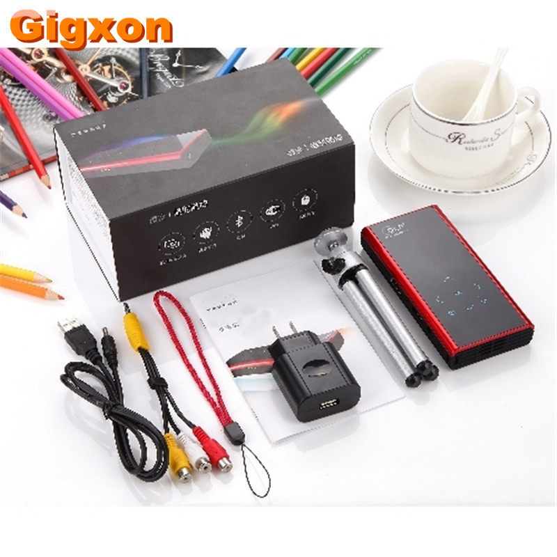Gigxon – G06S Mini Portable DLP LED Projector 1080P HDMI Projectors WiFi Bluetooth Android 4.4 Home Theater SmartPhones Proketor