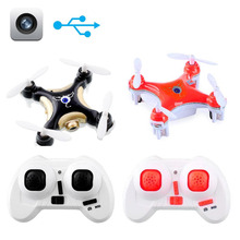 2016 Cherson CX-10C Mini 6 Axis 2.4G 4CH LED RC Quadcopter Helicopte Drones with Camera 0.3MP Black/Orange To Choose