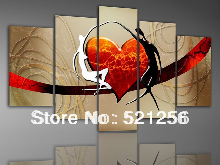 produto Free Shipping Handpainted Modern Wall Art Canvas Oil Paintings Art Gallery BLA147