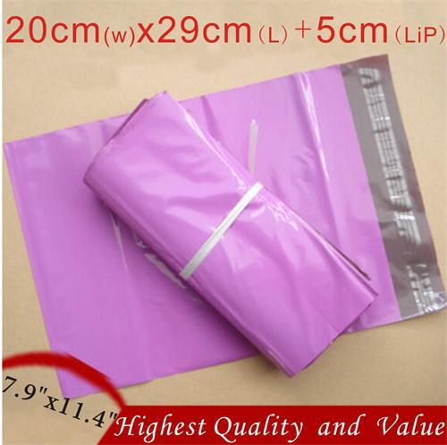 """50 PCS Purple Poly Mailers Shipping Envelopes Self Sealing Plastic Mailing Bags 7.9""""x11.4"""" 200x290mm(China (Mainland))"""