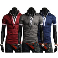 S-XXL Size 2015 New Men tops, Large in Stock Size Good Quality Men 's Polo Shirt Short Sleeve Polo Shirt for Boy Men E035