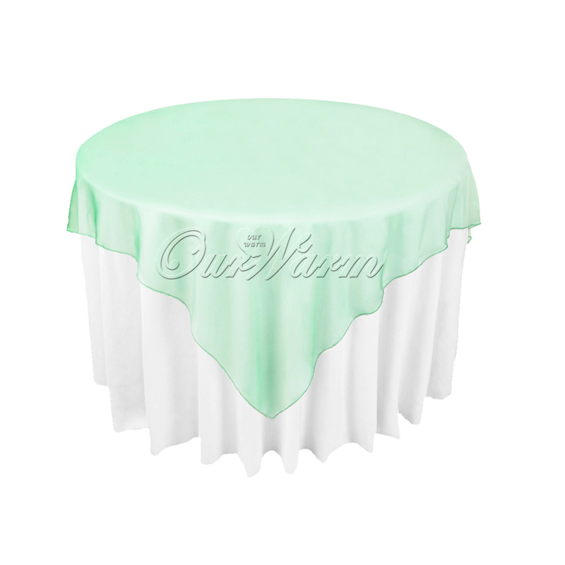 10Pcs/ Tablecloth Square Table Cover Organza Round Overlay 72 inch for Wedding Decoration Banquet Supply Home Textile(China (Mainland))