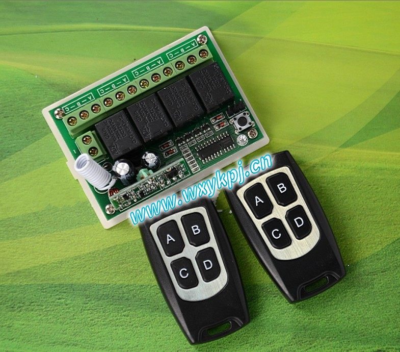 Free Shipping DC12V 4CH Wireless Remote Control Switch System smart home controller Receiver transmitter and receiverl<br><br>Aliexpress