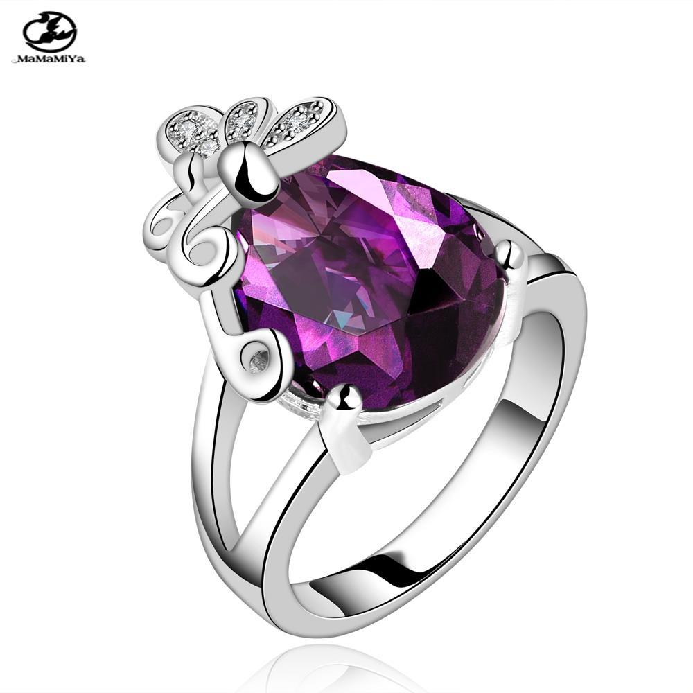 MaMaMiYaMaMaMiYaFVRR008-8Free shopping Fashion Big Crystal Ring Zircon women - Myemarket store