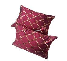 Wine Embroideried Traditional Waist Pillow Case