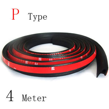 P type car sound insulation seal sealing rubber strip sealing Noise Weather Rubber 3m car door seal