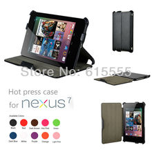Nexus 7 heat setting leather case cover slim case cover for Google Nexus 7,800pcs/lot free shipping(China (Mainland))
