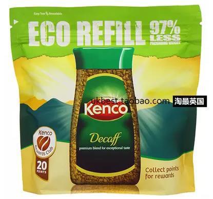 Kenco decaff caffeine instant dry 150g bags