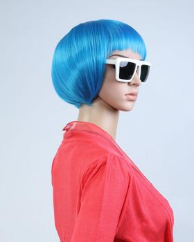 Short Bob Straight Light Blue Wig