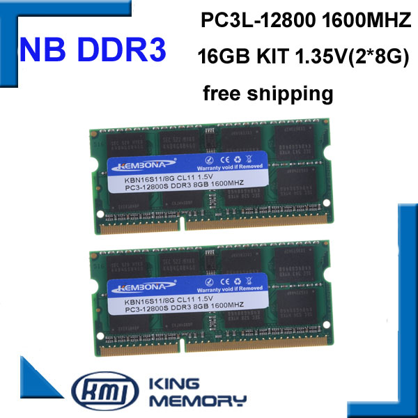 high quality and speed sodimm laptop ram DDR3 16GB(kit of 2pcs ddr3 8gb) PC3-12800 204pin ram memory(China (Mainland))