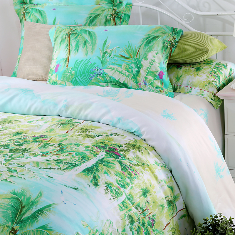 Buy blue green turquoise bedding sets for Housse de couette bleue