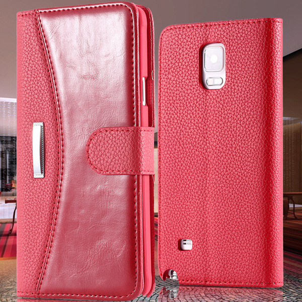 Electronic Accessories & Parts New Year Leather Case For Samsung Galaxy Note 4 IV Wallet Stand With Card Holder Cover Note 4(China (Mainland))
