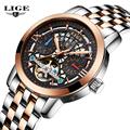 2017 LIGE Brand luxury Sport Mechanical Watches men reloj hombre Hollow Automatic Skeleton Watch supreme Relogio