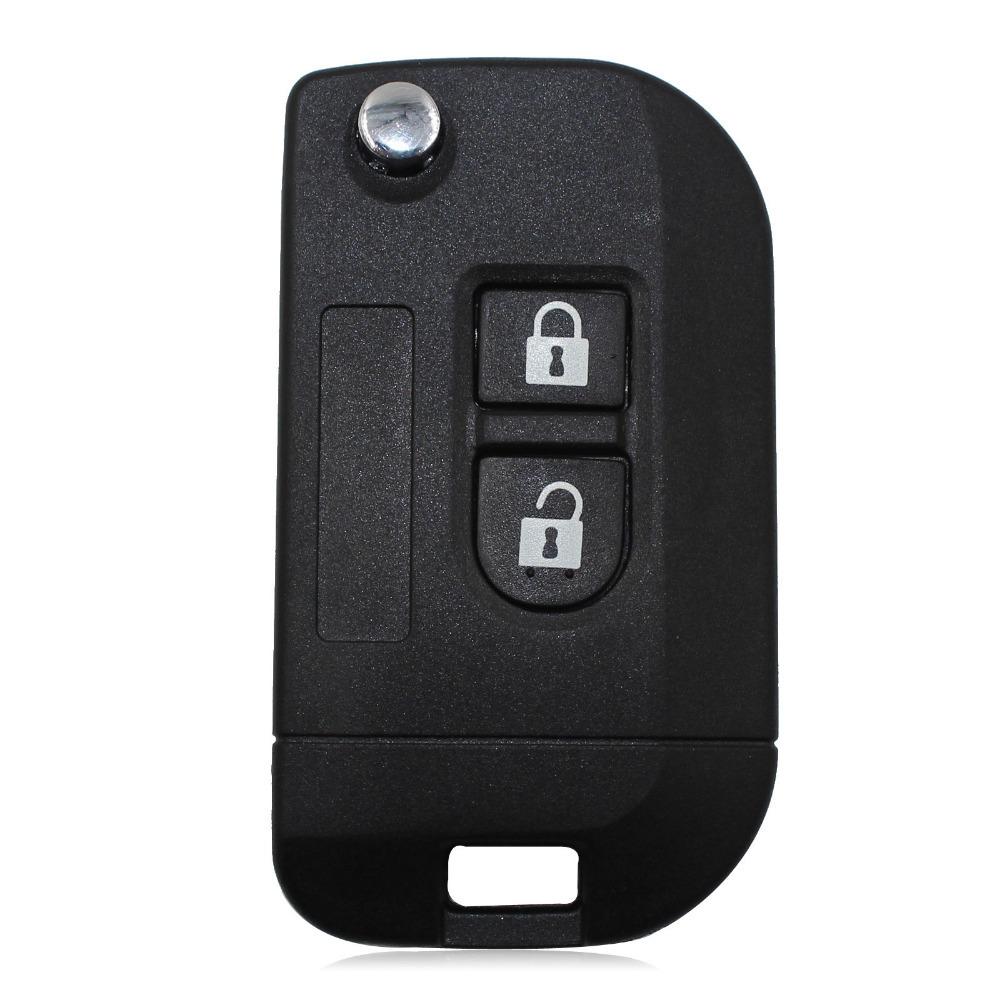 Uncut Flip Folding Remote Key Shell Car Case Fob Cover for Nissan Micra Navara Almera Note
