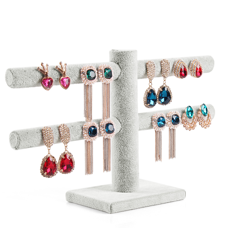A228-2 Double Layer earring rack 40 holes earring jewelry holder jewelry display stand earring storage rack free shipping(China (Mainland))