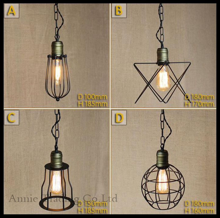 AC100-240V Modern Metal Mesh lamp shade pendant lights RH Loft Vintage lounge dining room restaurant home pendant hanging lamps<br><br>Aliexpress