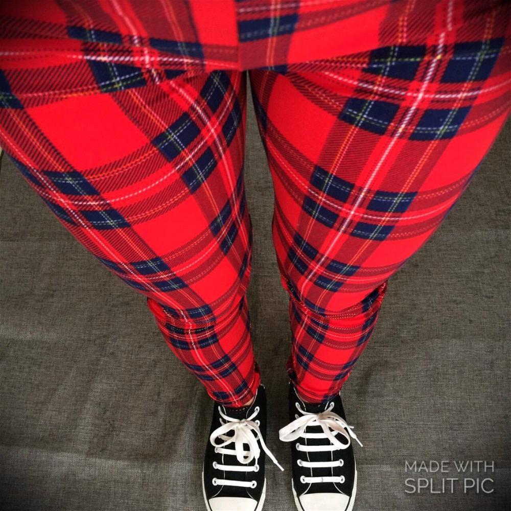 Black Milk Punk Leggings Sport Free Size Red Plaid Print Legins Jeggings Spandex Summer Slim Legging Sport Pencil Pant for Women(China (Mainland))