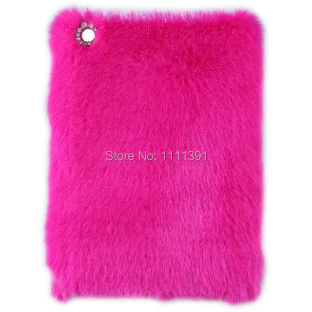 Luxury Rex rabbit fur case for ipad mini 1 2 3 Ultra Slim case for mini 7.9 Cover skin laptop tablet PC protective shell(China (Mainland))