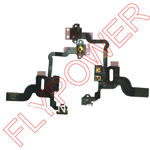 For iphone 4 4g Speaker Light Sensor Power On/Off camera Flex Cable by freee shipping; 100% used original; 10pcs/lot