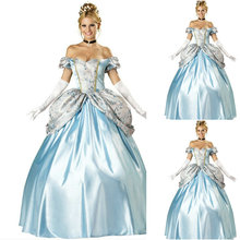 Freeship!Customer-made Blue Vintage Costumes Cosplay Renaissance Dress Steampunk dress Gothic Cosplay Halloween Dresses C-796
