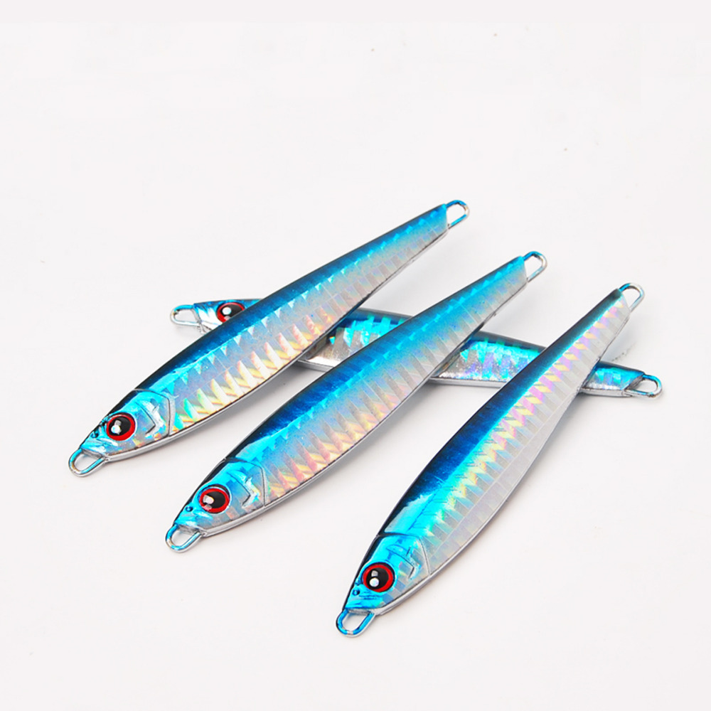 5PCS Deep sea Fishing Metal Jigging Jigbait Spoon Lure ...