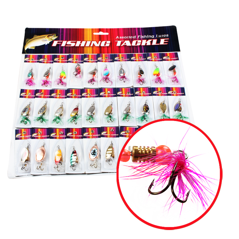 Spinner Fishing Lures Mix 30pcs/lot Spoon Saltwater Fishing Hook Lure and Baits Fishing Tackle Metal Lures(China (Mainland))
