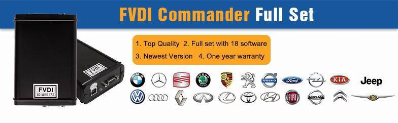 2015 Latest FVDI Commander Unlimited Full Set Version (18 Software) Best Key Programmer, Odometer Correction and Diagnostic Tool(China (Mainland))