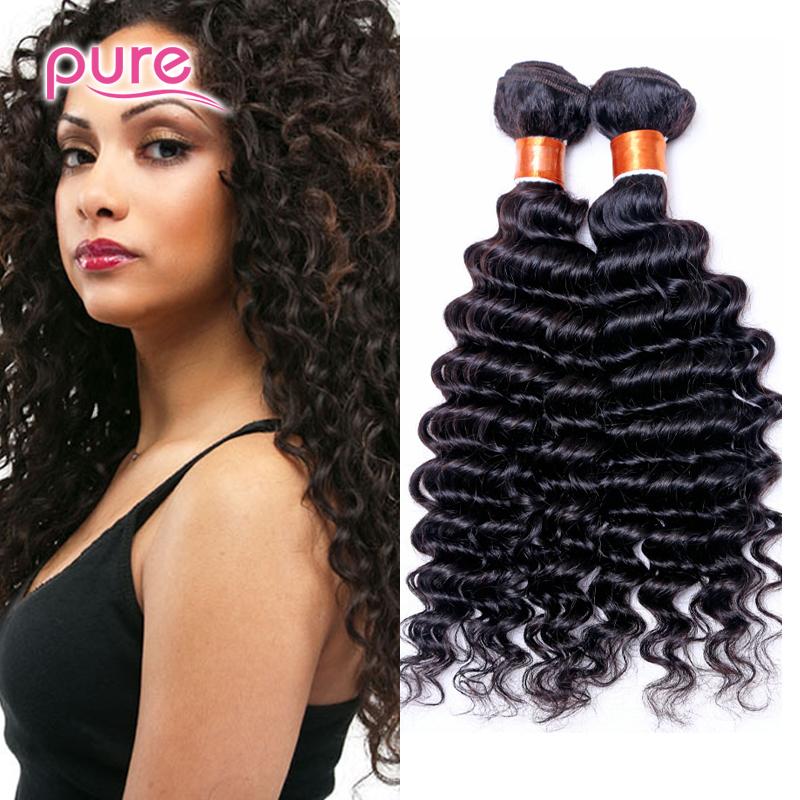 7A Unprocessed Cambodian Deep Wave Hair Extension 4Pcs Human Hair Weaving Bundle Natural Color Wet and Wavy Cambodian Hair Weave<br><br>Aliexpress