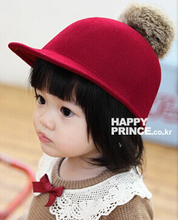 Excellent! Fashion Cute Kid Hat Baby Girl Cap For Child Wool Felt Crushable Cap Bucket Hat Kid Headwear Free Shipping(China (Mainland))