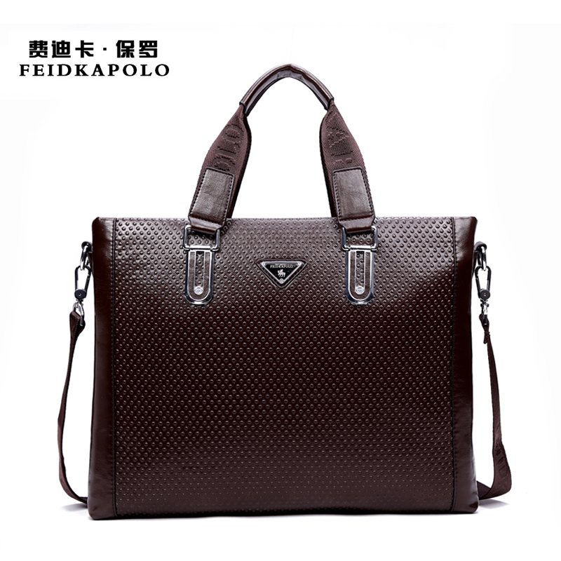 2015 Men Casual Briefcase Business Shoulder Leather Bag Men Messenger Bags  Computer Laptop Handbag Bag Men's Travel Bags