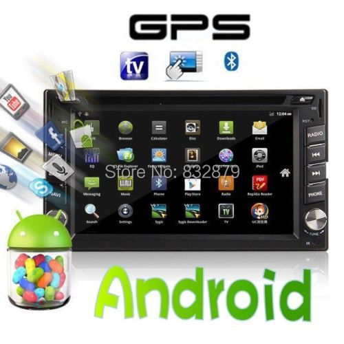 Pure Android In Dash Two 2 Din Car DVD player Head Deck GPS Navigation+Wifi+Bluetooth+Radio+1GHZ CPU+DDR3+Touch Screen+3G+car pc(China (Mainland))