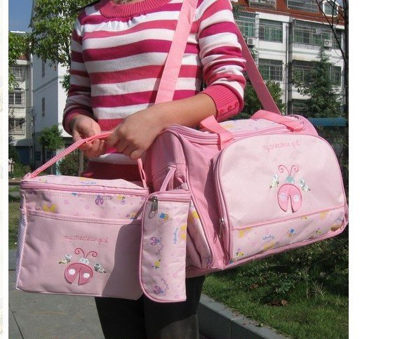 Waterproof  baby /Mommy/Mother/Mami/Mummy 4 pcs set  Nurse diaper bag bags -free shipping