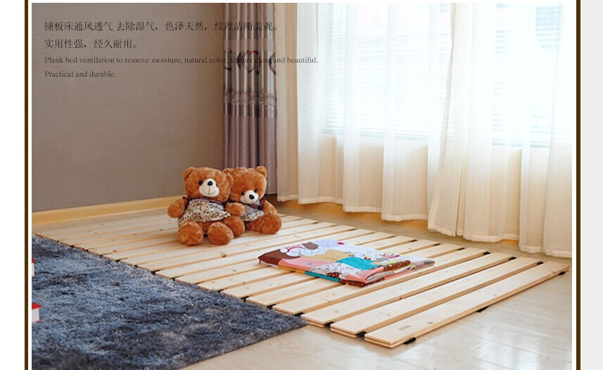 Wooden Tatami Bed Plate Minimalist Modern Plate Bed Bedroom Furniture Japanes