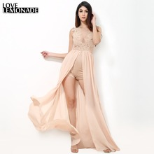 Buy Love&Lemonade Sexy Perspective Lace Stitching Gauze Chiffon Maxi Dress TB 9086 for $35.99 in AliExpress store