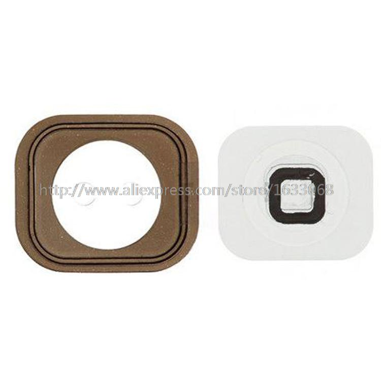 100% Original For Apple iPhone 5 5G Home Button Key White Black With Rubber Free Shipping(China (Mainland))